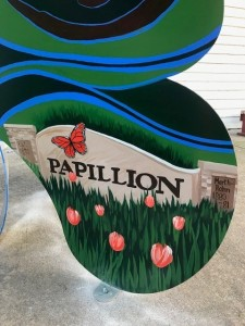 Butterfly Bench - Papillion sign (2)